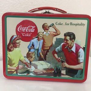 NWT Coca Cola Tin Lunchbox